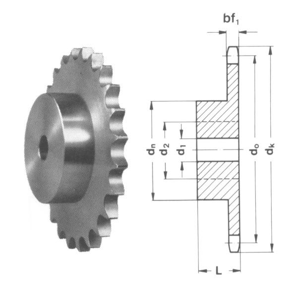"""08B 38 Zähne Kettenradscheibe simplex DIN 8187 1//2/"""" x 5//16/"""" 12,7x7,75 mm"""