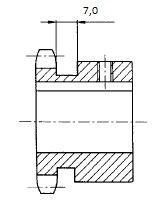 kettenrad einbaufertig 10B-1
