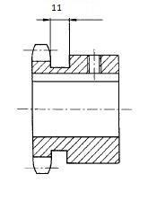 kettenrad einbaufertig 16B-1