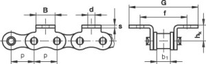 roller chain with attachment K1.2
