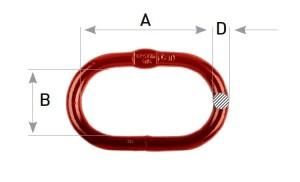 welded master link grade 80