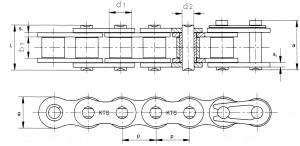 Simplex rollenketting DIN 8188