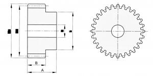 gearwheel module 2,5