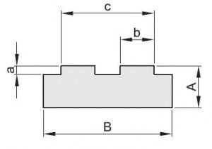 """""""T"""" profiel voor duplex kettingen"""