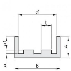 """""""E"""" profiel voor duplex kettingen"""