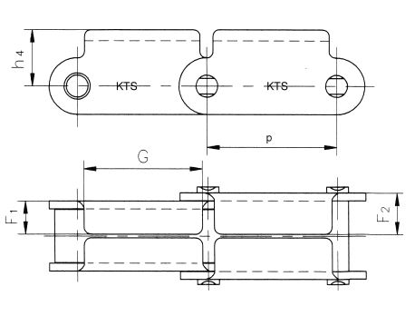 speciale rollenketting p=66,270mm