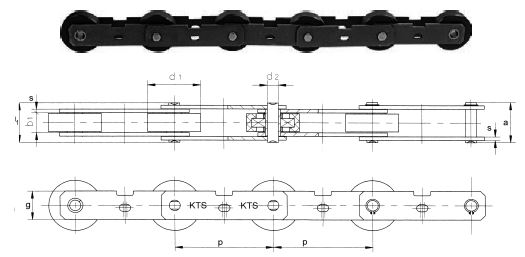 PT131 escalator chains